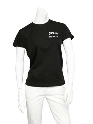 Dual Branded Ladies Black Premium Teeshirt