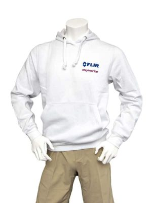 Dual Branded Unisex White Hoody