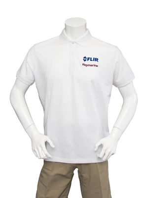 Dual Branded Men's White Classic Poloshirt