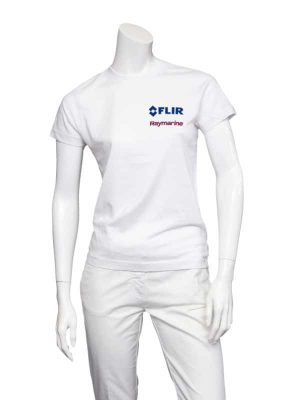 Dual Branded Ladies White Premium Teeshirt