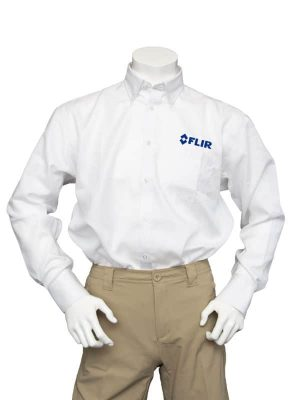 FLIR Men's White Non-Iron Shirt