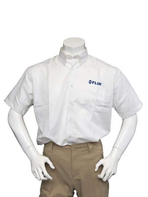 FLIR Men's White Short Sleeve Shirt