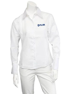 FLIR Ladies White Non-Iron Shirt