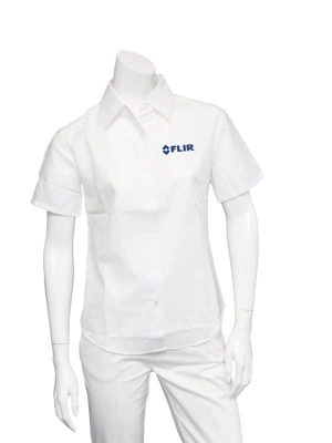 FLIR Ladies White Short Sleeve Shirt